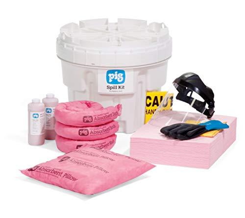 New Pig KIT352 63 Piece Battery Acid Spill Kit in 20 Gallon Overpack, 13 Gallon Absorbency Kit Contents