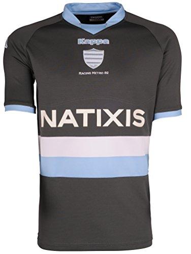RACING METRO 92 T-Shirt, offizielle Kappa-Kollektion, Rugby, für Herren, für Erwachsene XXL grau - grau