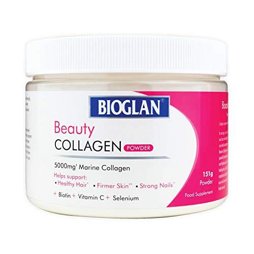 Bioglan Collagen   5000mg Marine Collagen Powder   Helps Support Healthy Looking Skin, Hair, Nails   Biotin   Vitamin C   Selenium   Hyaluronic Acid   151g