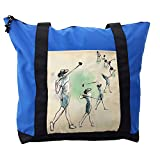 Lunarable Sports Shoulder Bag, Golf Swing Sequences Sketch, Durable with Zipper