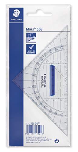 STAEDTLER 568 36 Geodreieck 16cm (mit abnehmbarem Griff)