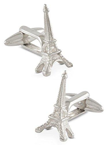 Boutons de manchette homme, Tour Eiffel, Paris, Argent 925, Faits mains