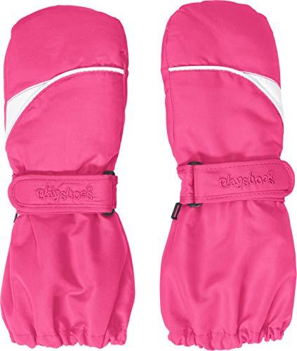Playshoes Kinder Fäustlinge mit Thinsulate-Technik und langem Schaft warme Winter-Handschuhe mit Klettverschluss, pink, 2