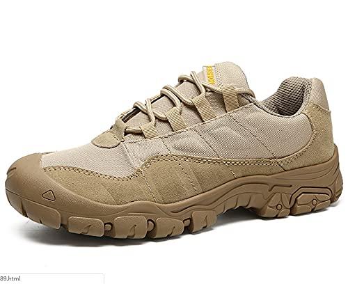 Zapatillas de Senderismo Botas de senderismoatos de Viaje Exterior con ventilaciones Cremallera Rápido a través Takato Masculino Camuflaje Botas de Desierto Botas tácticas Botas de montaña (45,Verde)