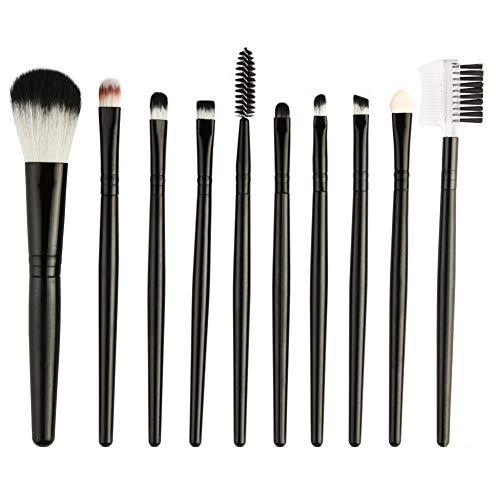 WFZ17 Lot de 10 outils de maquillage Pro pour fard à paupières, sourcils, sourcils, éponge, cosmétique, cosmétique, cosmétique, cosmétique, cosmétique, cosmétique, cosmétique, maquillage -
