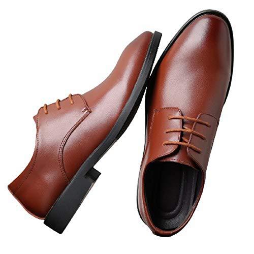 Zapatos Derby para Hombre, Color sólido, Transpirable, de Corte bajo, con Cordones, de Cuero, Punta Puntiaguda, Antideslizante, clásico, para Oficina, Zapatos Formales