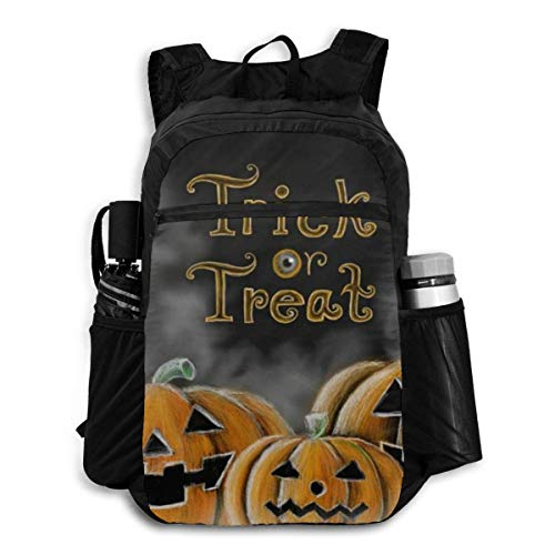 Computer Backpack Halloween Pumpkin Cobweb Spider Skull Candle Womens Shoulder Backpacks Bag Bookbag Daypack
