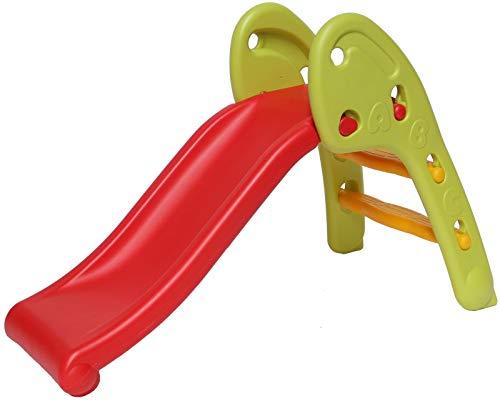 Clarmaro 'New Baby Adventure' Kinder Spielplatz Rutsche mit 80 cm Länge für Kleinkinder und Babys, Indoor/Outdoor Garten Rutschbahn mit runde Ecken und Kanten, extra Breiten Standbeinen und Stufen