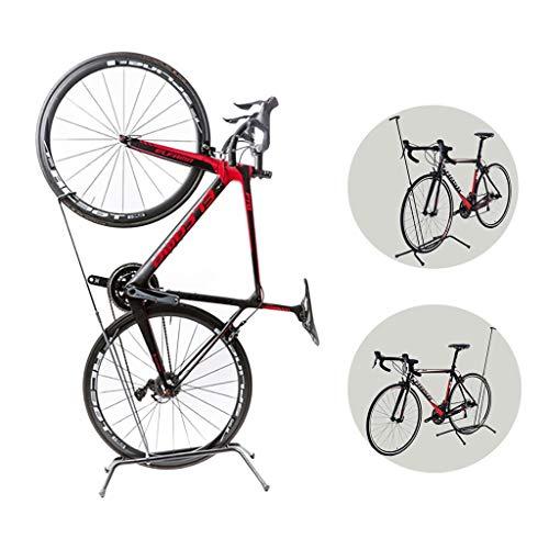Fahrradständer Vertikaler Fahrradparkplatz, Fahrradreparaturständer für Straße oder Berg, Platzsparendes Solo-Fahrrad Lagerregal