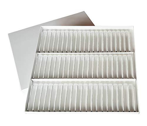 Homöopathie Globuli Testsatz Pappkarton mit 60 Klarglasröhrchen Ø 8mm und Etiketten