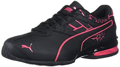 PUMA womens Tazon 6 Sneaker, Puma Black-red Rose, 9.5 US