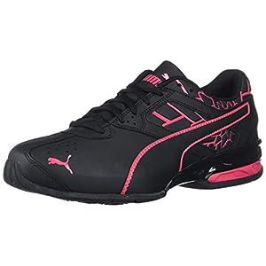 PUMA womens Tazon 6 Sneaker, Puma Black-red Rose, 7.5 US