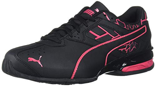 PUMA Women's Tazon 6 Sneaker, Black-Red Rose, 9 M US