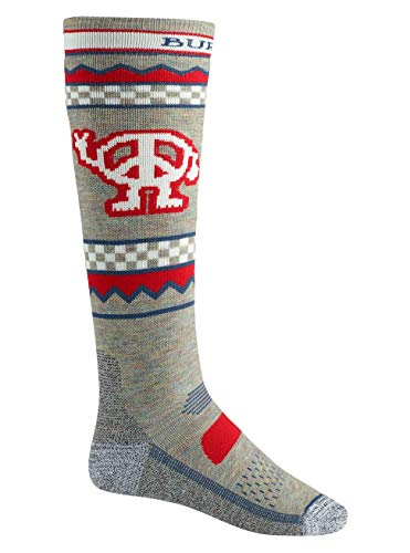 Burton Herren Performance Midweight Snowboard Socken, Oatmeal Heather, S