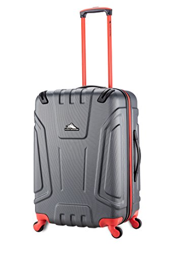 High Sierra Tephralite Hardside Spinner Luggage, Mercury/Redline, 24-Inch