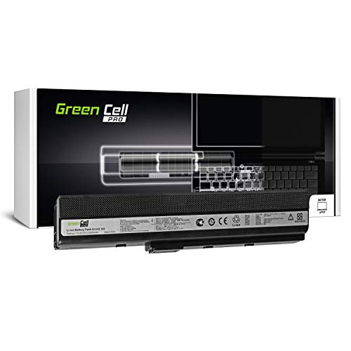 Green Cell Pro Serie A32-K52 Laptop Akku für ASUS A52 K52 K52D K52F K52J K52JC K52JE K52JR K52JT K52N X52 X52J X52N (Original Samsung SDI Zellen, 6 Zellen, 5200mAh, Schwarz)