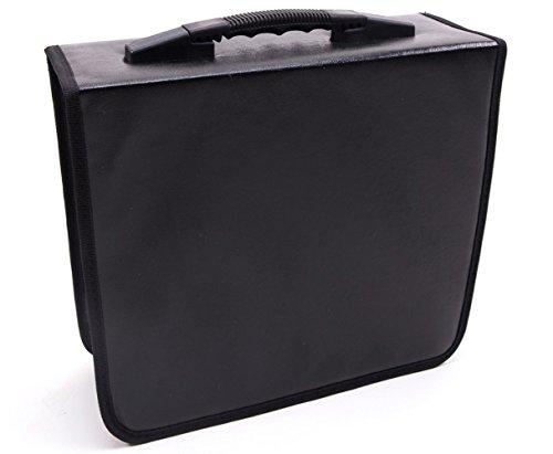 Fasmov 400 Disc CD/DVD Binder DVD Wallet Case, Black