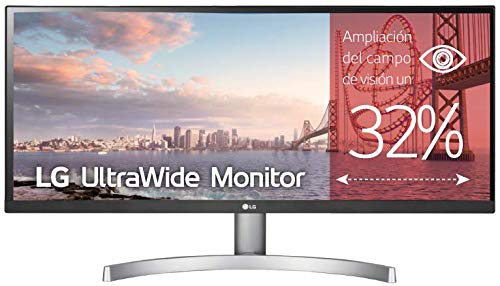 "LG 29WK600-W - Monitor Profesional UltraWide WFHD de 73 cm (29"") con Panel IPS (2560 x 1080 píxeles, 21:9, 300 cd/m², sRGB >99%, 1000:1, 5 ms GtG, 75 Hz, DPx1, HDMIx2, Auriculares) Color Blanco"