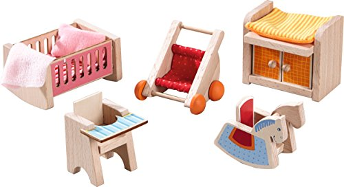 HABA Little Friends Children's Nursery Room - Dollhouse Furniture for 4' Bendy Dolls