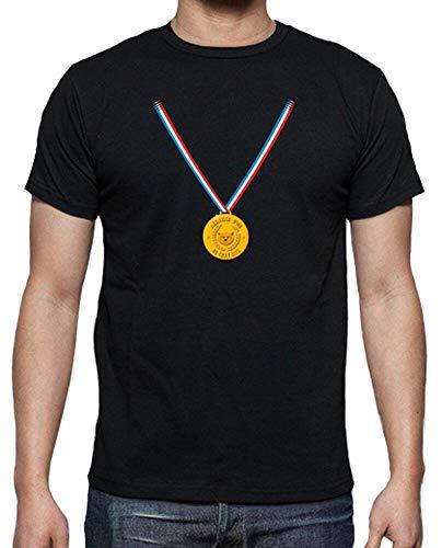 tostadora - T-Shirt Champion Katzenbiss - Manner Schwarz S