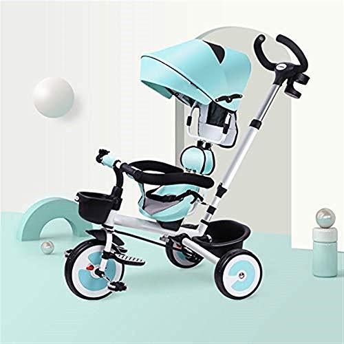 Dreiräder 3 in 1 faltendes Dreirad der Kinder 1 bis 6 Jahre Hinterrad mit Bremse 360 & deg; Drehsitz Kinder...