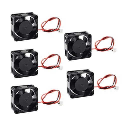 Ctzrzyt 5 Piezas Piezas de Impresora 3D 4020 Ventilador de RefrigeracióN 12 V Sin Escobillas -Cooler 40Mm Ventilador de Nevera 40X40X20Mm