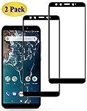 Eachy Vetro Temperato Xiaomi Mi A2, [2 Pezzi] Pellicola Protettiva Xiaomi Mi A2 Protezione Schermo Copertura Completa Bordo a Bordo 5,99 Pollici-Nero