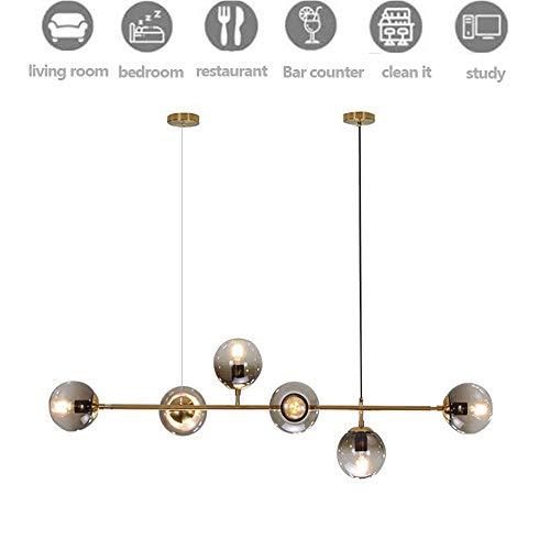 4 licht kroonluchter helder fit vlak schuine plafond E27 bussencoating voor restaurant bar keuken eetkamer geschikt voor 10-15 vierkante meter (lamp niet inbegrepen) 2