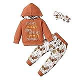 Borlai Conjunto de ropa floral para bebés y niñas, con capucha, para 0 a 3 años, caramelo, 2-3 Años