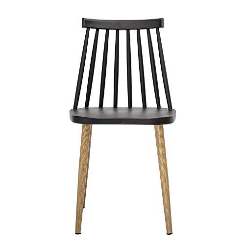 Bloomingville Chaise Design la Chaise Bajo de Couleur Noir/en Métal laqué/Plastique/Désigné