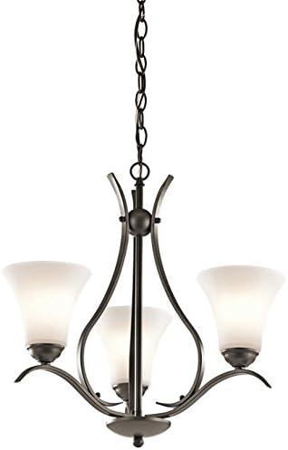 2021 Kichler 43503OZ Keiran Chandelier sale outlet sale 3-Light, Olde Bronze online