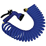 Whitecap Blue P-0440B Coiled Hose with Adjustable Nozzle-15...