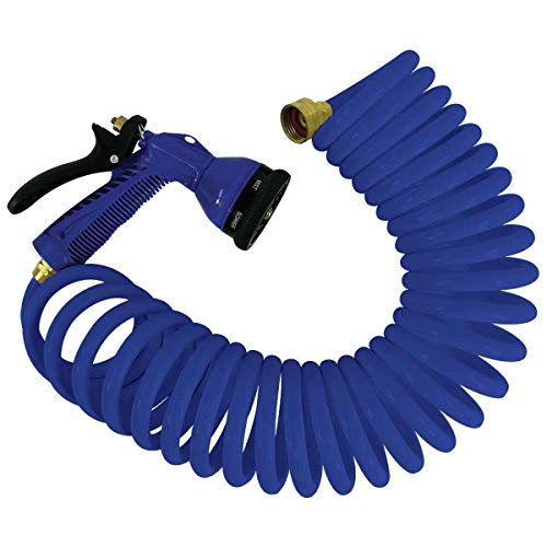 Whitecap Blue P-0440B Coiled Hose with Adjustable Nozzle-15
