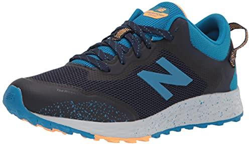 New Balance Kids' Fresh Foam Arishi V1 Trail Running Shoe, Natural Indigo/Wave/Habanero, 4 Big