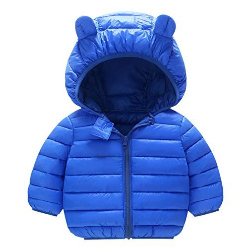 Geilisungren Baby Winter Jacke Mantel Kinder Ohr Kapuzenjacke Warm Gepolstert Leichte Dicke Winddicht Mantel Jungen Mädchen Outfits für 1-5 Jahre