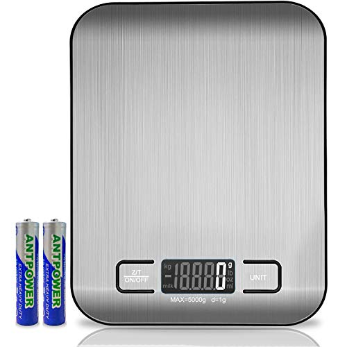 Digital Kitchen Scales, 5 Kg Electronic Cooking Scales Made Of Stainless...