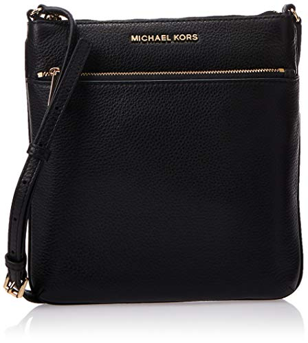 Michael Kors Riley Leather Flat Crossbody Black