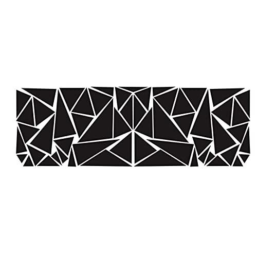 Funien Vinilo para Puerta de Rayas largas, 2 Piezas triángulos de Vinilo Pegatinas de carrocería de Coche de Rayas largas Pegatina de Puerta de Vinilo calcomanías de Carreras Deportivas Decorativas