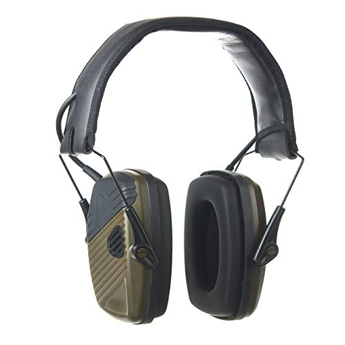 PROTEAR Elektronischer Schiessen Gehörschutz, Schießstand Gehörschützer, Lärmminderung Klangverstärkung für Jagd, SNR 28dB-Grün