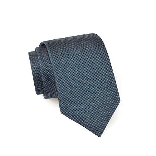 Massi Morino ® Seidenkrawatten für Herren - handgenähte Krawatte blau dunkelblau naviblau marineblau ozeanblau blauekrawatte gemustert schwarz black feinesmuster feinesmotiv schwarzblau