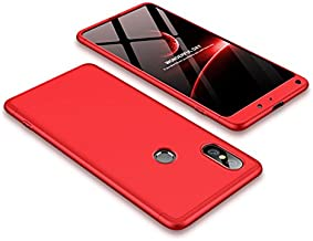 Case Xiaomi Mi Mix 2s 360 Degrees protective Cover + tempered glass film High quality, 3 in1 Full Body protection Bumper hard phone Case Ultra-thin Skin Case,for Xiaomi Mi Mix 2s (Red)