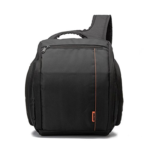 Sac à dos d'épaule Messenger pour caméra nylon imperméable à l'eau grande capacité espace professionnel appareil photo numérique SLR caméra sac à dos outils photographiques , Orange