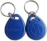 OBO Hands 10pcs Proximity EM4100 EM4102 125KHz RFID EM-ID Card RFID Key Chain Keyfob Read Only (Blue)