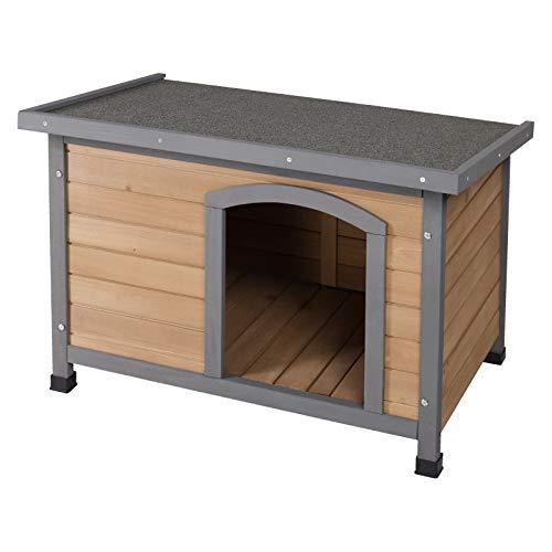 EUGAD Casetas para Perros Madera Jaula/Casa para Perros Gatos Conejo Cobaya Impermeable para Jardín Interior y Exterior 85 x 58,2 x 57,5 cm 0009TL