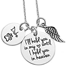Personalized Pet Memorial Necklace - Engraved Personalized Jewelry - 1141