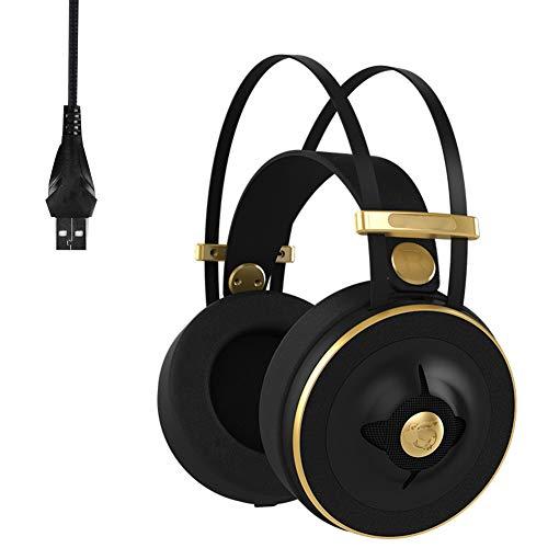 ENEN Auriculares para Juegos Auriculares con Cable USB, micrófono de reducción de...