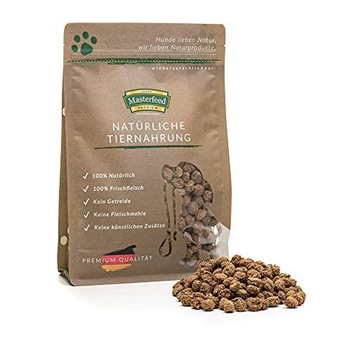 Masterfeed Leckerli Brocken Rind - 90% Fleischanteil - Getreidefrei - 100% Natürlich - Hundeleckerli Größe 1000 g