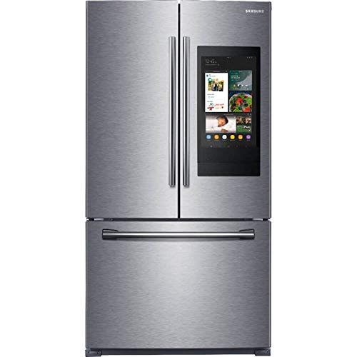 Samsung 25.1 cu. ft. Family Hub French Door Smart Refrigerator in Stainless Steel