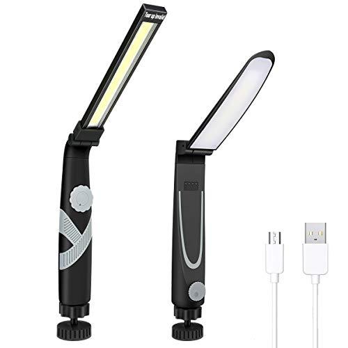 E-More Linterna Eléctrica Recargable USB Luz del Trabajo De La Linterna Led...