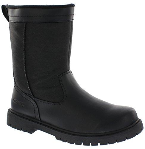 Khombu Mens Chicago Insulated Winter Boot, Black, Size - 10M